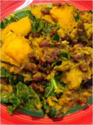 Recipe – Kabocha, Aduki Beans And Kale Curry