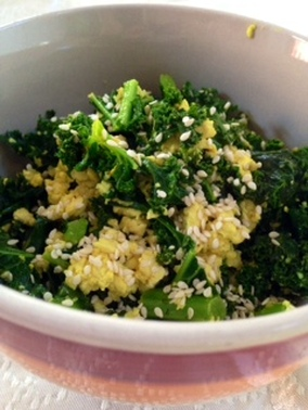 Scrambled Tofu With Kale