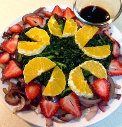 Recipe: Kale Strawberry Salad