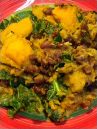 Recipe – Kabocha, Aduki Beans And Kale Curry