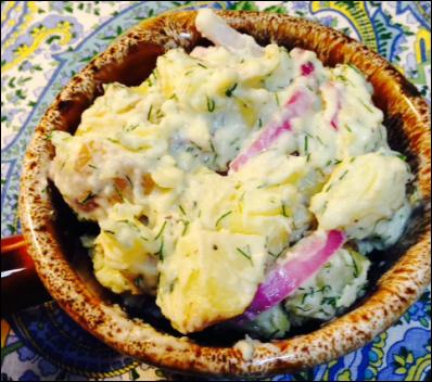 Potato Salad With Goat Yogurt And Dill