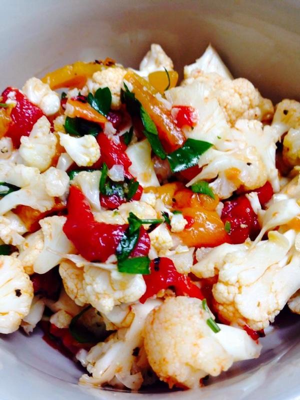 Cauliflower-Roasted Pepper Salad
