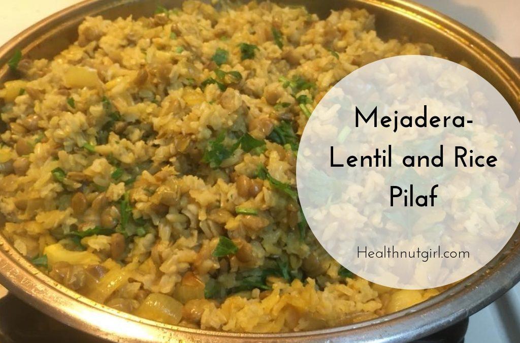Mejadera – Lentil and Rice Pilaf